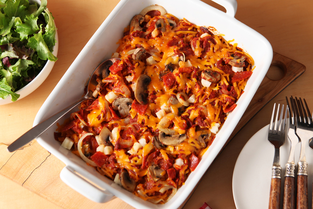 Cheesy Pepperoni-Potato Casserole Image 1