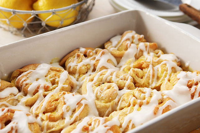 Lemon Sticky Buns with Cream Cheese Glaze - Kraft Recipes