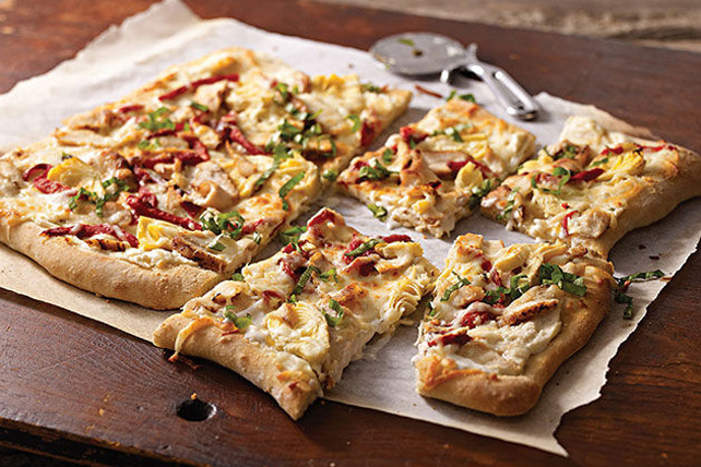 Baked Chicken Flatbread Image 1