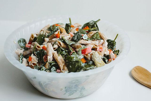 Spinach & Artichoke Pasta Salad Image 1