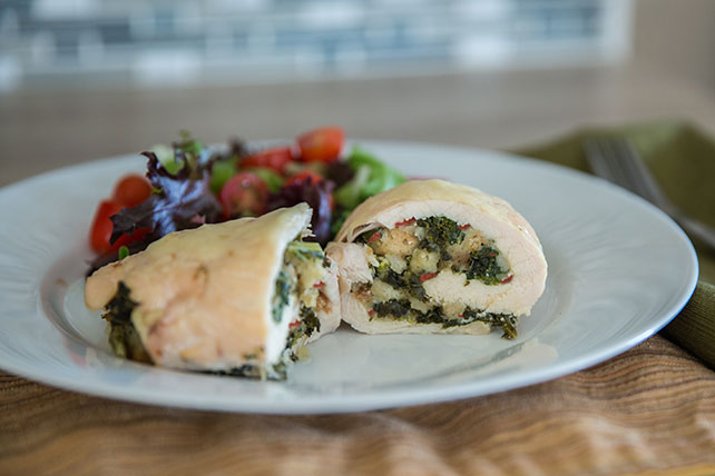 Kale-Stuffed Chicken Breasts for Two Image 1