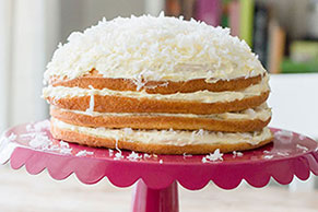 White Chocolate-Coconut Torte