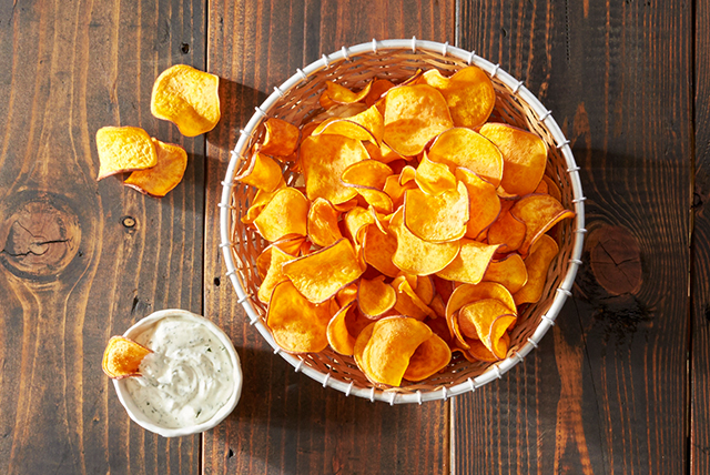 Baked Homemade Sweet Potato Chips Image 1