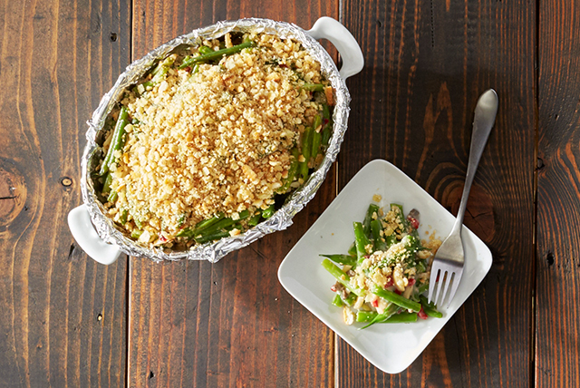 Delightfully Light Green Bean Casserole Image 1