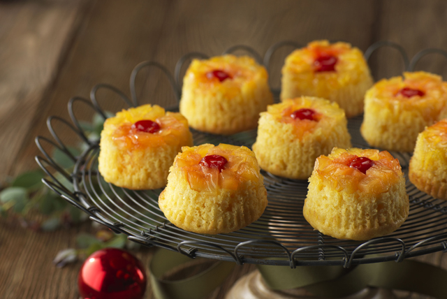 Pineapple-Coconut Upside-Down Cupcakes Image 1