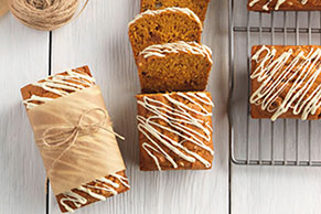 White Chocolate, Caramel & Pumpkin Mini Loaves
