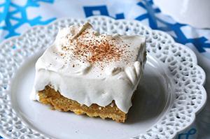 Sencillo pastel de calabaza con cobertura de pudín estilo cheesecake Image 1