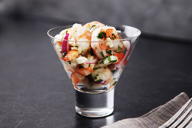 "Feta & Shrimp ""Ceviche"" Image 1"
