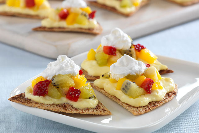Creamy Dessert Nachos with Tropical Fruit Salsa Image 1
