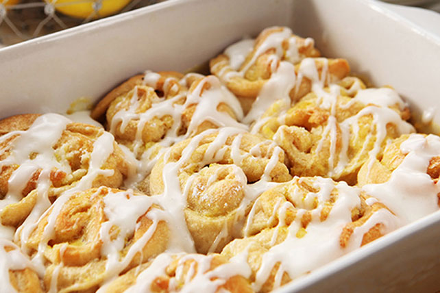 Lemon Sticky Buns with Cream Cheese Glaze Image 1