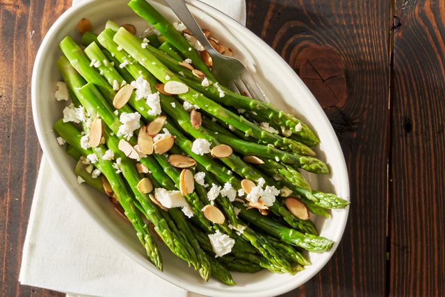 Honey Almond Asparagus with Feta Image 1