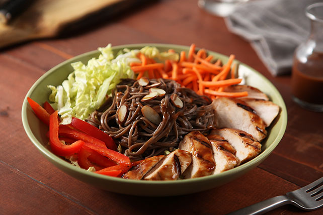 Spicy Chicken Yaki Soba Noodle Salad