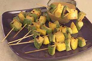 Brochetas de mango y aguacate a la parrilla Image 1