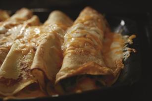 Crepas rellenas con champiñones y queso Image 1