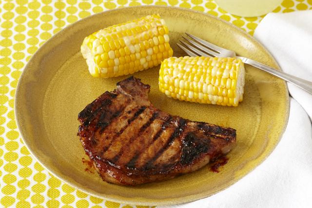 Clásicas chuletas de cerdo con salsa BBQ Image 1