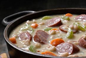 Rustic Bean & Smoked Sausage Soup
