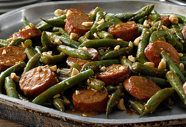 Kung Pao Sausage and Green Beans Image 1