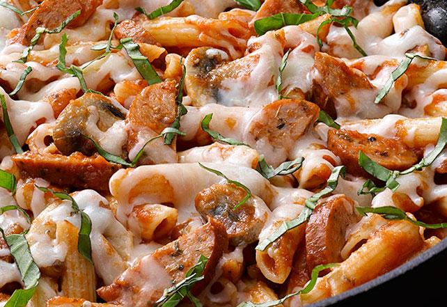 Sausage-Mushroom Penne Skillet Image 1