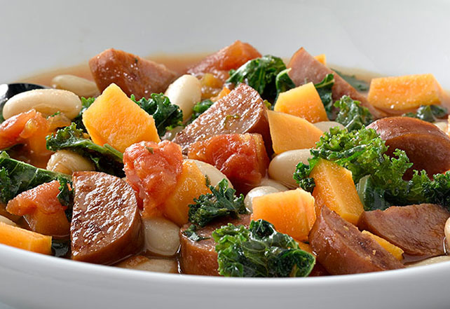 Sausage, Sweet Potato & Kale Soup Image 1