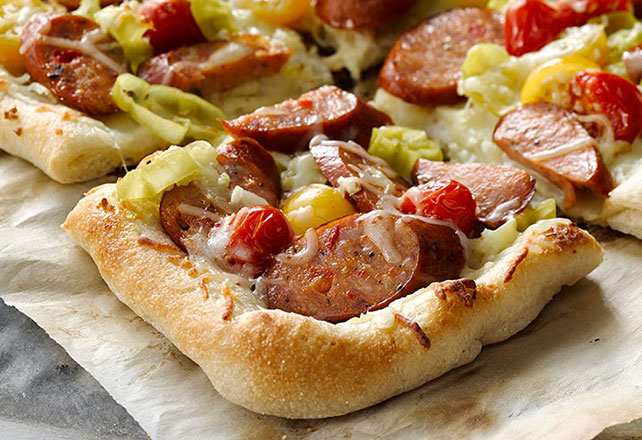Five Cheese, Sausage & Tomato Pizza