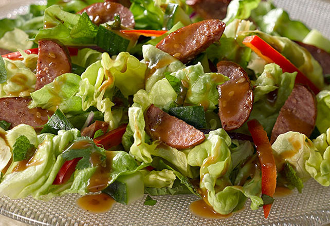 Asian-Style Beef Sausage Salad Image 1