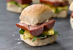 Hawaiian Sausage Sliders