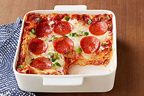 Easy Pepperoni Pizza Lasagna