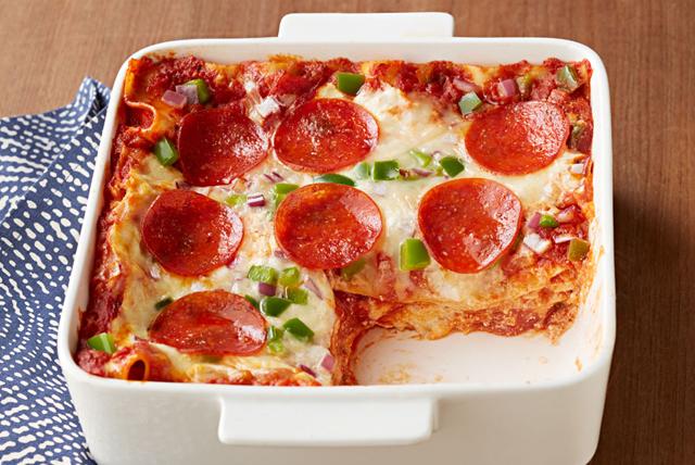 Sencilla lasaña de pizza con pepperoni Image 1