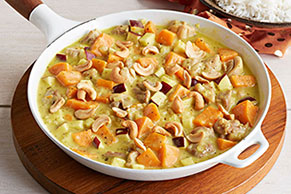 Creamy Chicken with Sweet Potatoes and Apples