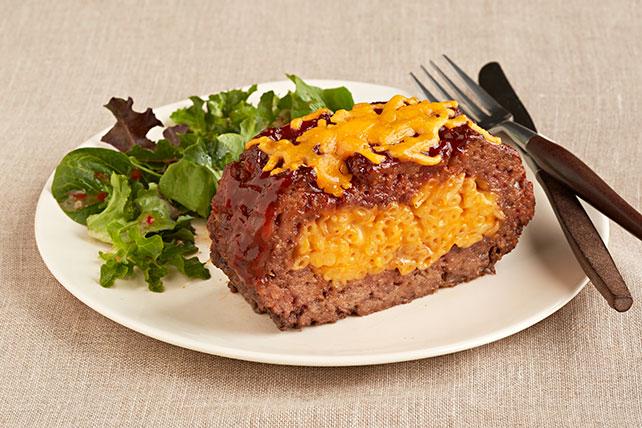 Pastel de carne relleno con macarrones y queso Image 1