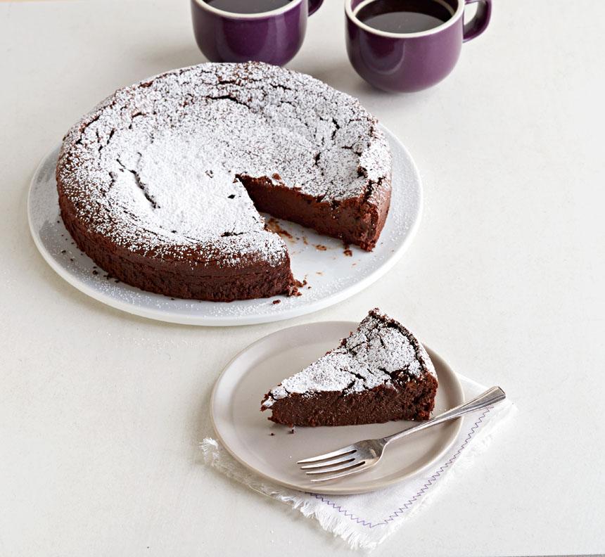 Pastel de chocolate con especias otoñales
