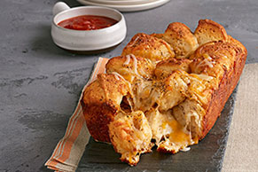 Cheesy Salsa Pull-Apart Bread