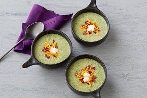 Sopa cremosa de brócoli con papas