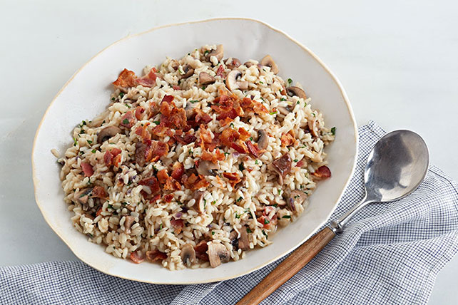 Bacon and Mushroom Arborio Rice Recipe Image 1