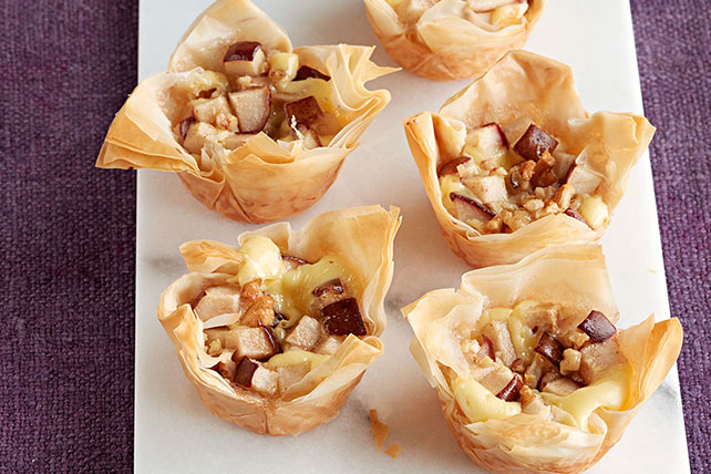Pear & Ginger Cheesecake Phyllo Cups
