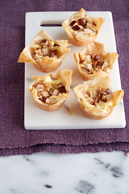 Pastelitos de cheesecake con pera y jengibre