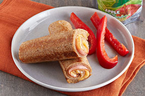 Grilled Ham & Cheese Roll-Ups