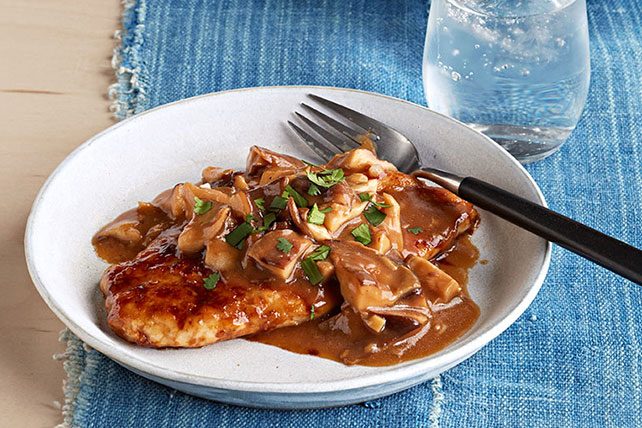 Pan-Roasted Chicken with Shiitake Mushrooms