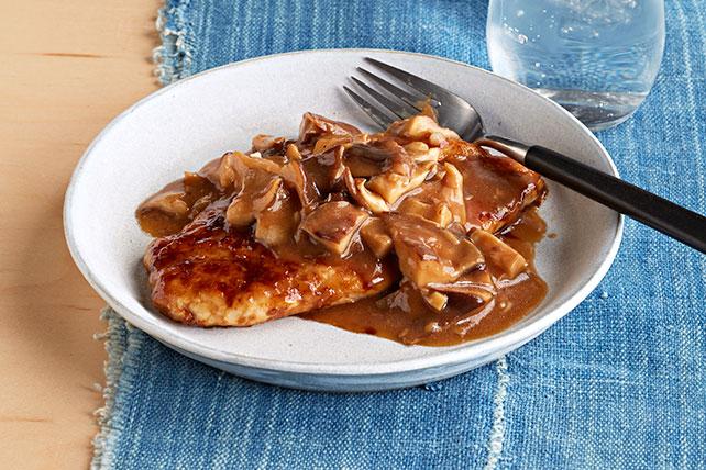 Pollo a la sartén con hongos shiitake Image 1