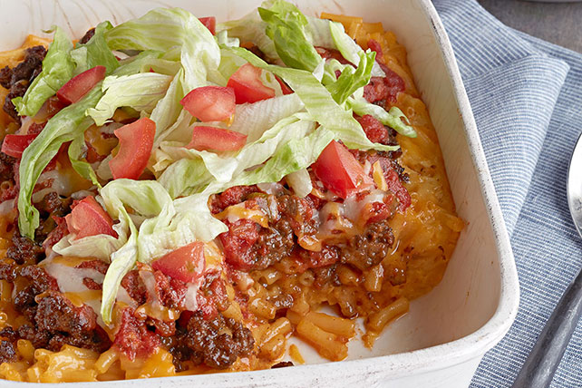 Cheesy Macaroni Taco Bake