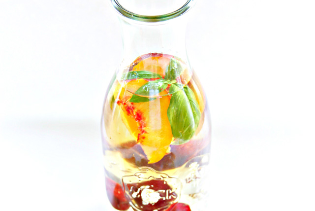 Summer Cherry and Peach Sangria