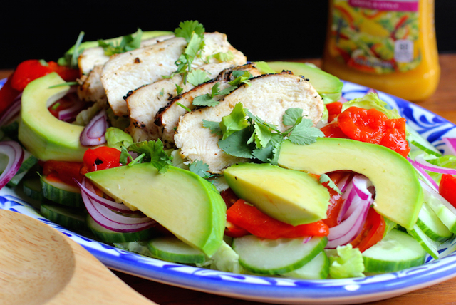 Grilled Chicken Salad With Mango Chipotle Dressing Kraft Recipes