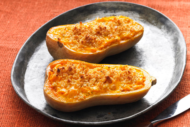 Calabaza tipo butternut con relleno de queso Image 1