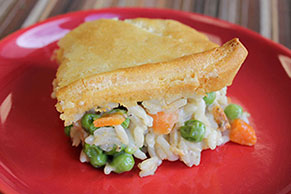 All American Chicken and Rice Pot Pie