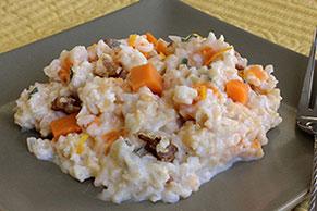 Sweet Potato Walnut Risotto