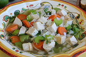 Chicken and Rice Vegetable Soup