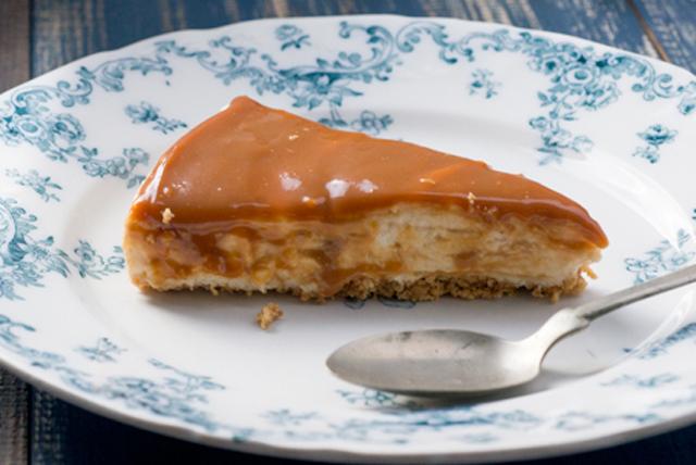 Cheesecake de dulce de leche sin hornear