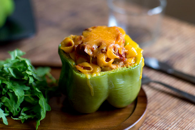 Turkey Pasta with Cheesy Stuffed Peppers