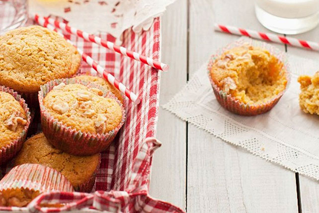 Pumpkin Muffins with Apples & Walnuts Image 1