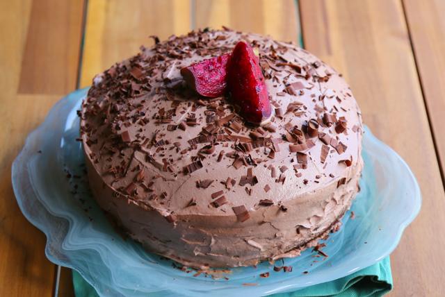 Pastel de chocolate y mermelada de tunas   Image 1